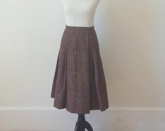 Vintage Oscar de la Renta Tapestry Full Skirt