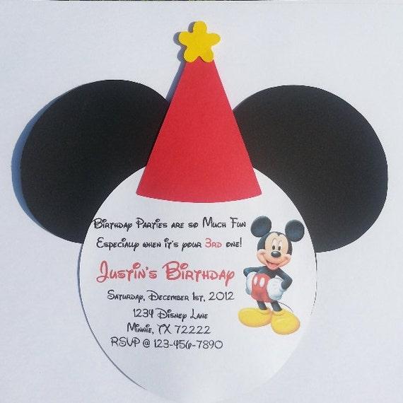 Favorito Mickey Mouse Birthday Party Invitations | Birthday Wikii TO99