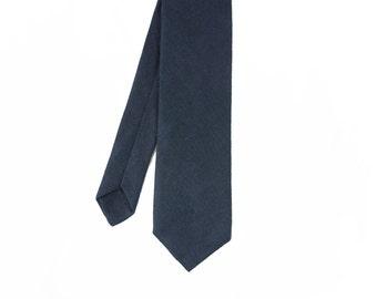 Nico - Midnight Navy Linen Men's Tie