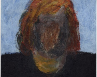 Original Painting - 'Girl with the Missing Face' by Peter Mack