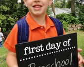 The Original! First Last Day of School Chalkboard Sign - Two-sided, Reversible First Day, Last Day - BACK TO SCHOOL sign