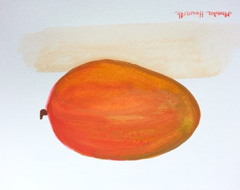 Mango ORIGNAL watercolor painting mango painting mango art 12 x 9 inches one of a kind