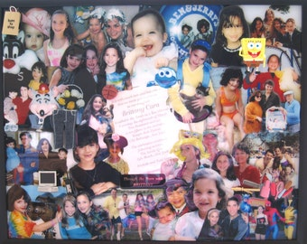 "3D Bat Mitzvah Photo Collage by Collagery  (18""x24"" shown)"