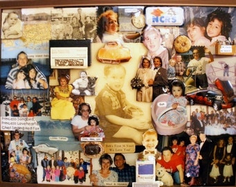 "3D Birthday Photo Collage by Collagery (18""x24"" shown)"