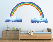 Rainbow Wall Graphic-Large, Reusable, Colorful, Wall Sticker, Children's Wall Art, 2 size options
