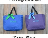 5 Personalized Bridesmaids Gifts Tote Bags Monogrammed Tote, Bridesmaid Tote, Personalized Tote Wedding