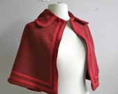 Wool Cape with peter pan collar