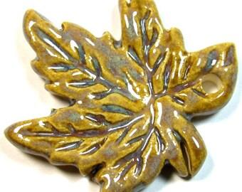 Ceramic Maple Leaf Pendant