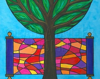 Torah Painting / Original Painting / Living Tree of Life