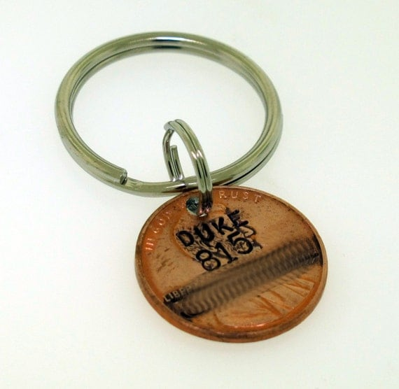 Dog Tag -- Custom made from a Penny -  by Kathryn Riechert