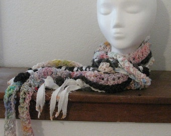 Flying Octopus Loop Scarf-Handspun/Braided Art Yarn