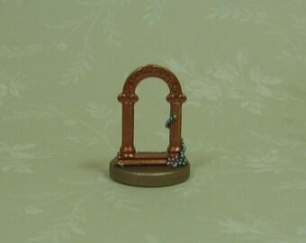 Dollhouse Miniature Bronze Filigree Classical Arch Figurine