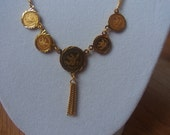 21k Gold Coin Medallion Necklace