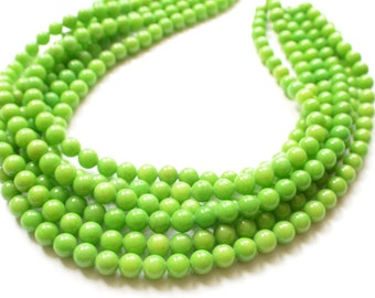 The Michelle- Yellow- Green Jade Chunky Necklace