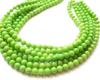 Michelle - Yellow Green Jade Bridesmaid Statement Necklace