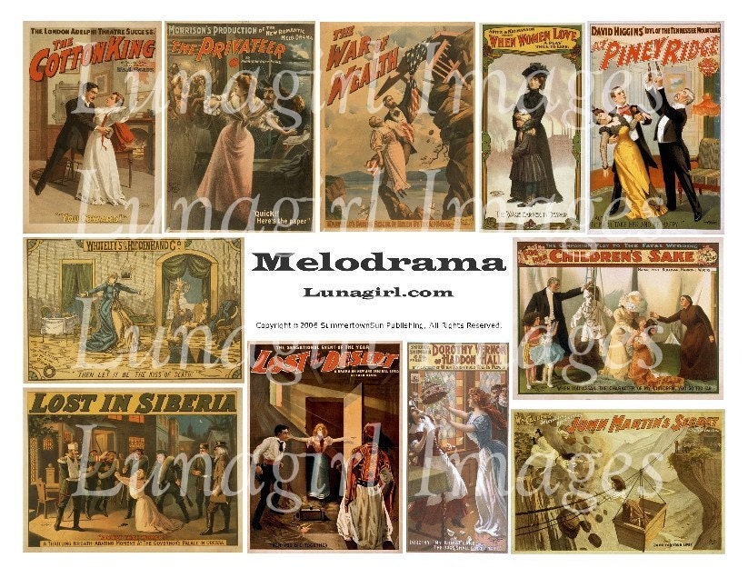 Vintage western image collage sheets