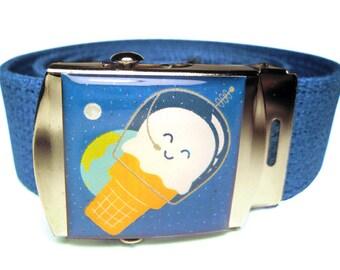 Astronaut Ice Cream Canvas Belt