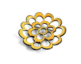 Yellow Flower Brooch 114/365
