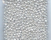 3 oz Gorgeous Bright Silver GLASS Seed Beads Loose Bag 6/0 1300 beads
