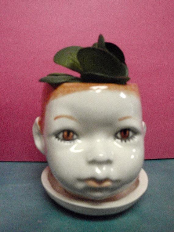 Little Fawn doll head planter