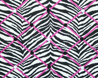Black White Zebra Animal Stripe French Memo Board