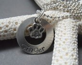 Dog Charm Necklace, Sterling silver necklace, charm necklace,  dog charm,
