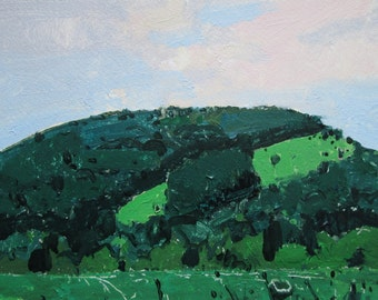 Garden Hill, July 23, Original Landscape Painting on Paper, Stooshinoff