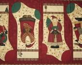 Pre-Printed Fabric Panel to Sew & Embellish Debbie Mumm Santa Stockings