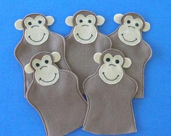 Five Little Monkeys Party Favor Puppets