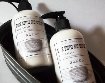 Body Lotion NAKED unscented...Black Kettle