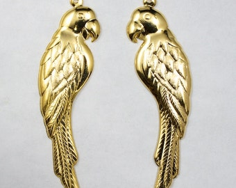 55mm Gold Left Facing Parrot Charm #1977