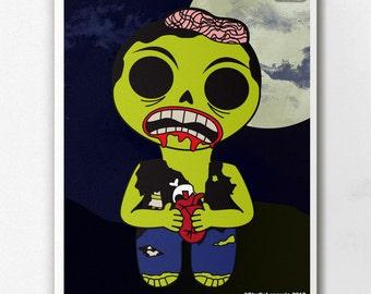 Zombie Zeke Wall Art Print