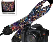 Deluxe Camera Shoulder Strap, Women's DSLR Padded Camera Strap, Padded Camera Strap Nikon Canon Binocular colorful dots RTS