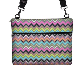 "13 inch Chevron Laptop Bag for MacBook Pro 13"" Case Sleeve Cover Mac Laptop Messenger Bag with Strap  multi color colorful RTS"