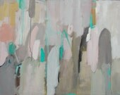 abstract paintings pastel colors acrylic and colored pencil large modern art