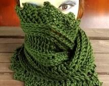 Crochet Pattern, Crochet Scarf Pattern, Crochet Cowl Pattern, PDF Pattern, LAUREN Mobius Infinity Scarf Pattern