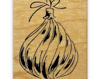 CHRISTMAS ORNAMENT, mounted rubber stamp No.7