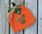 SALE NeWBoRN Pumpkin Hat BaBY PHoTO PRoP RTS Orange PuMPKiN Beanie HaRvEST Cap HaLLoWEEN CoSTuME BeANiE Shower Gift CoMiNG HoME Hat Boy Girl