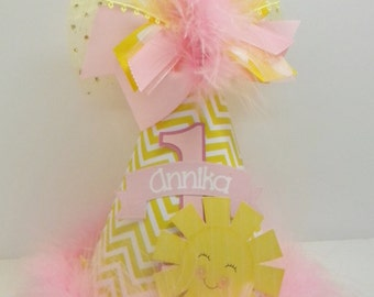 Personalized You are my Sunshine Party Hat