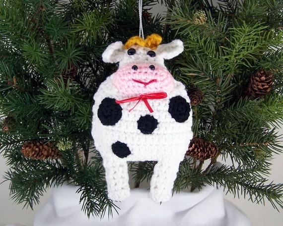 Amigurumi Crochet Christmas Ornaments : Christmas Ornaments animal crochet amigurumi cow