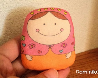dominika matryoshka art doll- normal size-- handproduced--(ship in 1 day)