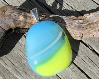 Riding the Waves  Glass Pendant