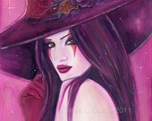 Burgandy witch  print  8x10 by Renee L. Lavoie