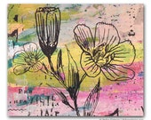 Spring Flower Panel Painting