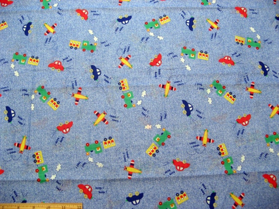 Fat quarter children 39 s novelty fabric cars by sewingsouthpaw for Kids novelty fabric
