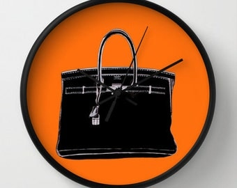 HERMES BAG CLOCK (2 color choices)