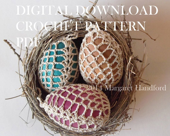 Crochet Egg Cover Lace Pattern Digital Download PDF