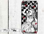 iphone 6 case Checkerboard Alice in Wonderland iPhone case - for iphone 4,4s or iphone 5