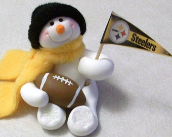 Pittsburg Steelers: snowman ornament