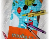 Fish Personalized Crayon Roll Up